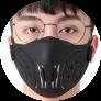 Tokova Sleek Designer Face Mask – Black