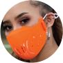 Tokova Sleek Designer Face Mask – Orange