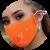 Tokova Sleek Designer Face Mask – Orange