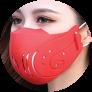 Tokova Sleek Designer Face Mask – Red
